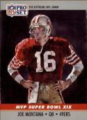 1990 Pro Set Super Bowl MVP's #19 Joe Montana NM-MT 49ers