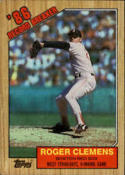 1987 Topps #1 Roger Clemens Red Sox RB