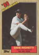 1987 Topps #5 Dave Righetti Yankees RB
