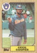 1987 Topps #10 Cecil Cooper Brewers