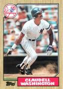 1987 Topps #15 Claudell Washington Yankees