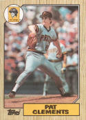 1987 Topps #16 Pat Clements Pirates