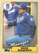 1987 Topps #18 Dick Howser Royals MG
