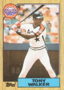 1987 Topps #24 Tony Walker Astros