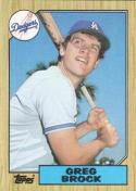 1987 Topps #26 Greg Brock Dodgers