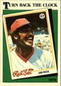 1988 Topps #662 Jim Rice TBC Red Sox