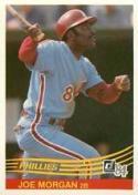 1984 Donruss #355 Joe Morgan Philadelphia Phillies Baseball Card
