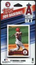 2011 Anaheim Angels Topps Factory Sealed Baseball 17 Card Team Set