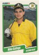 1990 Fleer #7 Mike Gallego Athletics