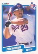 1990 Fleer #301 Pete Incaviglia Rangers