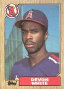 1987 Topps #139 Devon White Rookie Card Angels