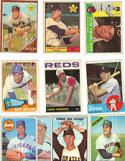 1960's Topps Baseball Cards 10 Card Collection (One Card From Each Year (1960 - 1969) In New Collector's Display Album
