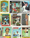 1970's Topps Baseball Cards 20 Card Collection (Two Cards From Each Year (1970 - 1979) In New Collector's Display Album