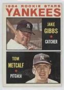1964 Topps #281 Jake Gibbs/Tom Metcalf NM-MT Rookie Card Yankees Yankees Rookies
