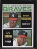 1964 Topps #378 Woody Woodward/Jack Smith EX/NM Rookie Card Braves Braves Rookies
