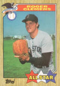 1987 Topps #614 Roger Clemens Red Sox AS