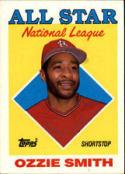 1988 Topps #400 Ozzie Smith Cardinals AS