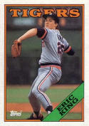 1988 Topps #499 Eric King Tigers