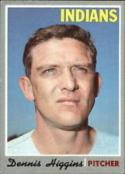 1970 Topps #257 Dennis Higgins Excellent +