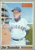 1970 Topps #291 Leo Durocher MG Excellent +