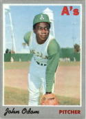 1970 Topps #55 Johnny Odom Excellent +
