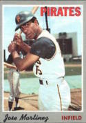 1970 Topps #8 Jose Martinez Excellent + RC Rookie