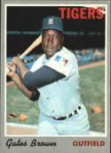 1970 Topps #98 Gates Brown Excellent +