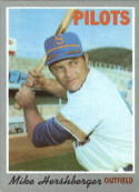 1970 Topps #596 Mike Hershberger Excellent +