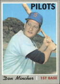 1970 Topps #185 Don Mincher Excellent +