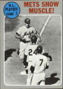 1970 Topps #196 N.L Playoff Game 2 Mets Show Muscle! Excellent +