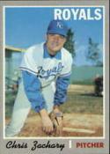 1970 Topps #471 Chris Zachary Nr. Mint