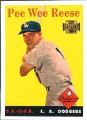 Pee Wee Reese 2001 Topps Archives Baseball Card #330