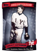 Christy Mathewson 2010 Topps Peak Performance Baseball Card PP-10  (NY Giants)