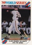 1990 Fleer World Series #4 Will Clark Giants