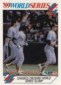1990 Fleer World Series #5 Jose Canseco Athletics