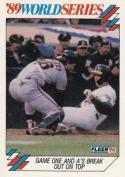 1990 Fleer World Series #7 Terry Steinbach Athletics