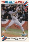 1990 Fleer World Series #8 Dave Stewart Athletics