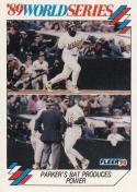 1990 Fleer World Series #9 Dave Parker Athletics