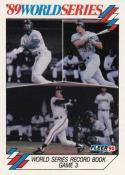 1990 Fleer World Series #10 Dave Parker/Jose Canseco/Matt Williams