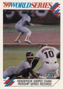 1990 Fleer World Series #11 Rickey Henderson Athletics