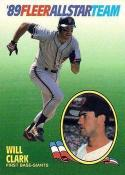 1989 Fleer All Stars #3 Will Clark Giants