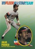 1989 Fleer All Stars #5 Julio Franco Indians