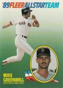 1989 Fleer All Stars #6 Mike Greenwell Red Sox