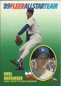 1989 Fleer All Stars #7 Orel Hershiser Dodgers