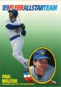 1989 Fleer All Stars #8 Paul Molitor Brewers