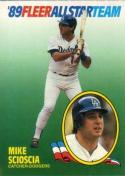 1989 Fleer All Stars #9 Mike Scioscia Dodgers