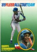 1989 Fleer All Stars #10 Darryl Strawberry Mets