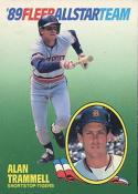 1989 Fleer All Stars #11 Alan Trammell Tigers