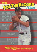 1989 Fleer For The Record #1 Wade Boggs Red Sox