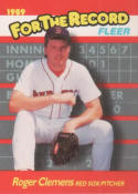 1989 Fleer For The Record #2 Roger Clemens Red Sox